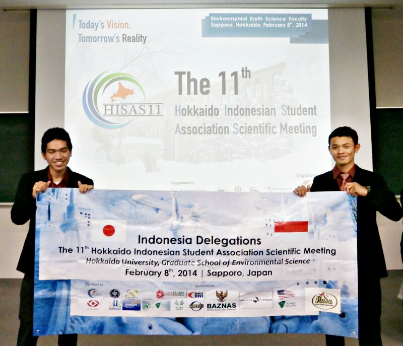 Presentator on The 11th Hokkaido Indonesian Student Association Scientific Meeting (HISAS 11) (Maret 2014) - Mujtahid Alfajri